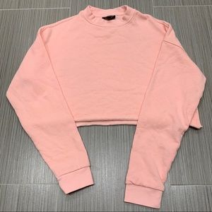 Topshop Round Neck Cropped sweatshirt